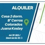 Casa en alquiler Juana Koslay