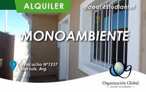 Monoambiente en alquiler Ciudad de San Luis