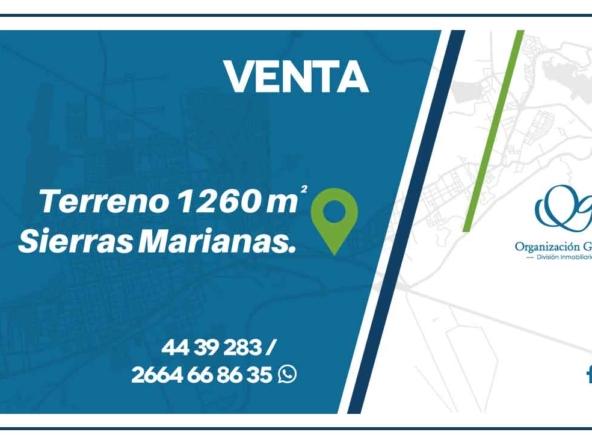 VENTA Terreno 1260 m² Sierras Marianas