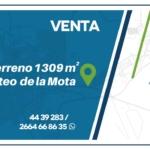 VENTA Terreno 1309 m² Loteo de la Mo