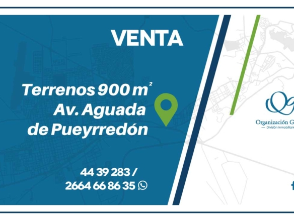 VENTA Terrenos de 900 m² Av. Aguada de Pueyrredón